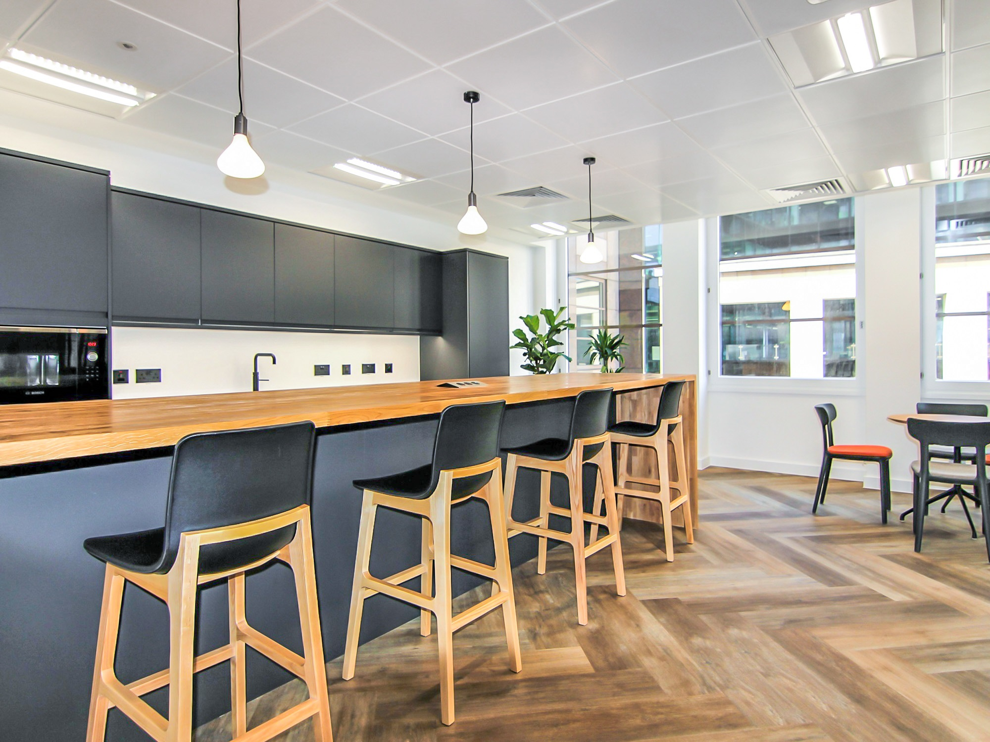 office kitchen and bar