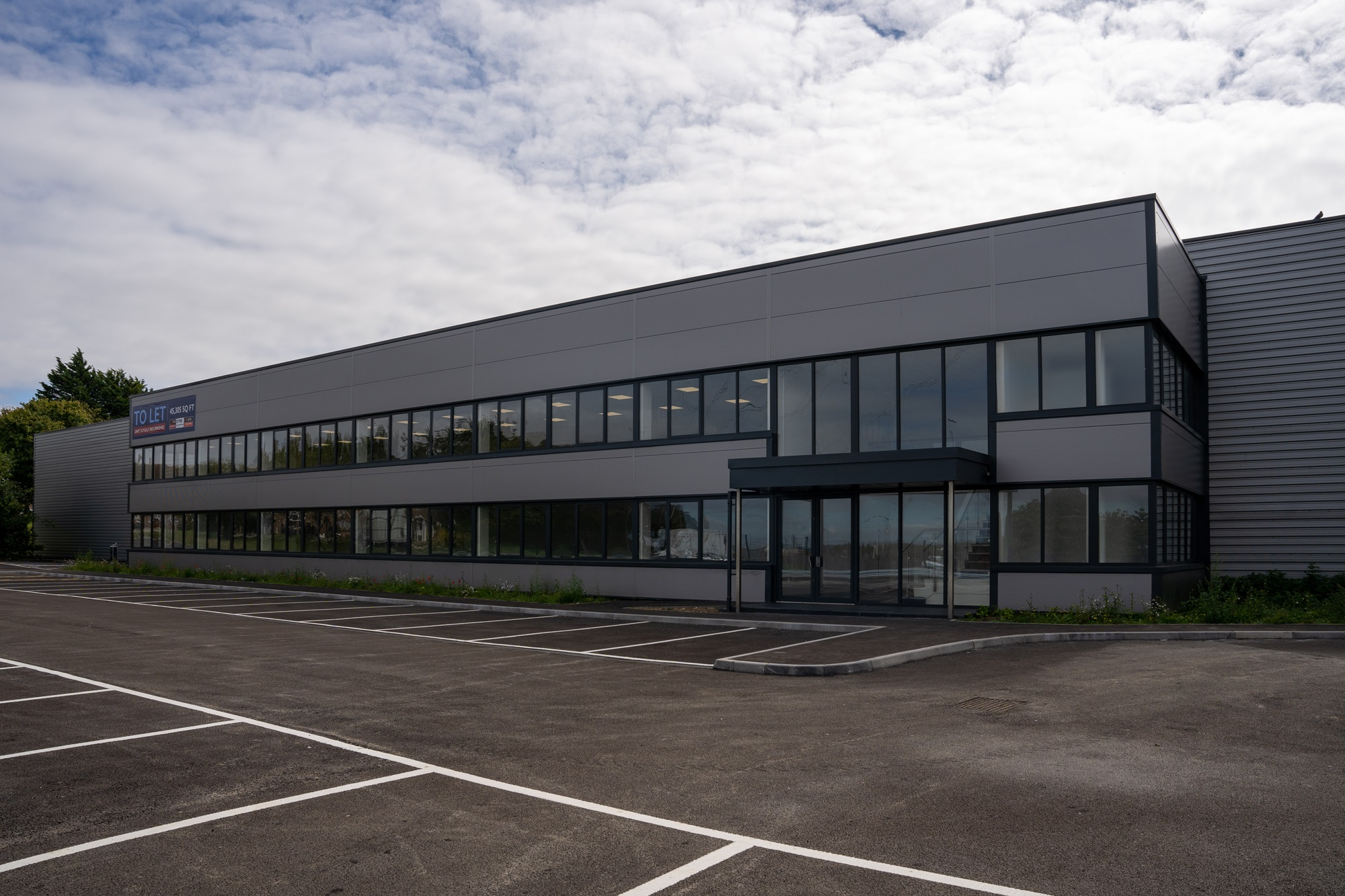 exterior image of warehouse entrance