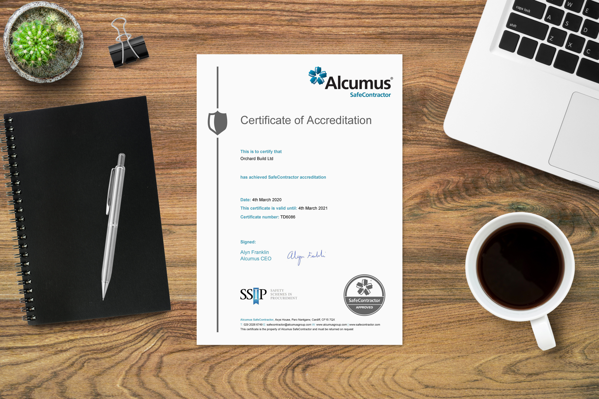 certifications of accreditation