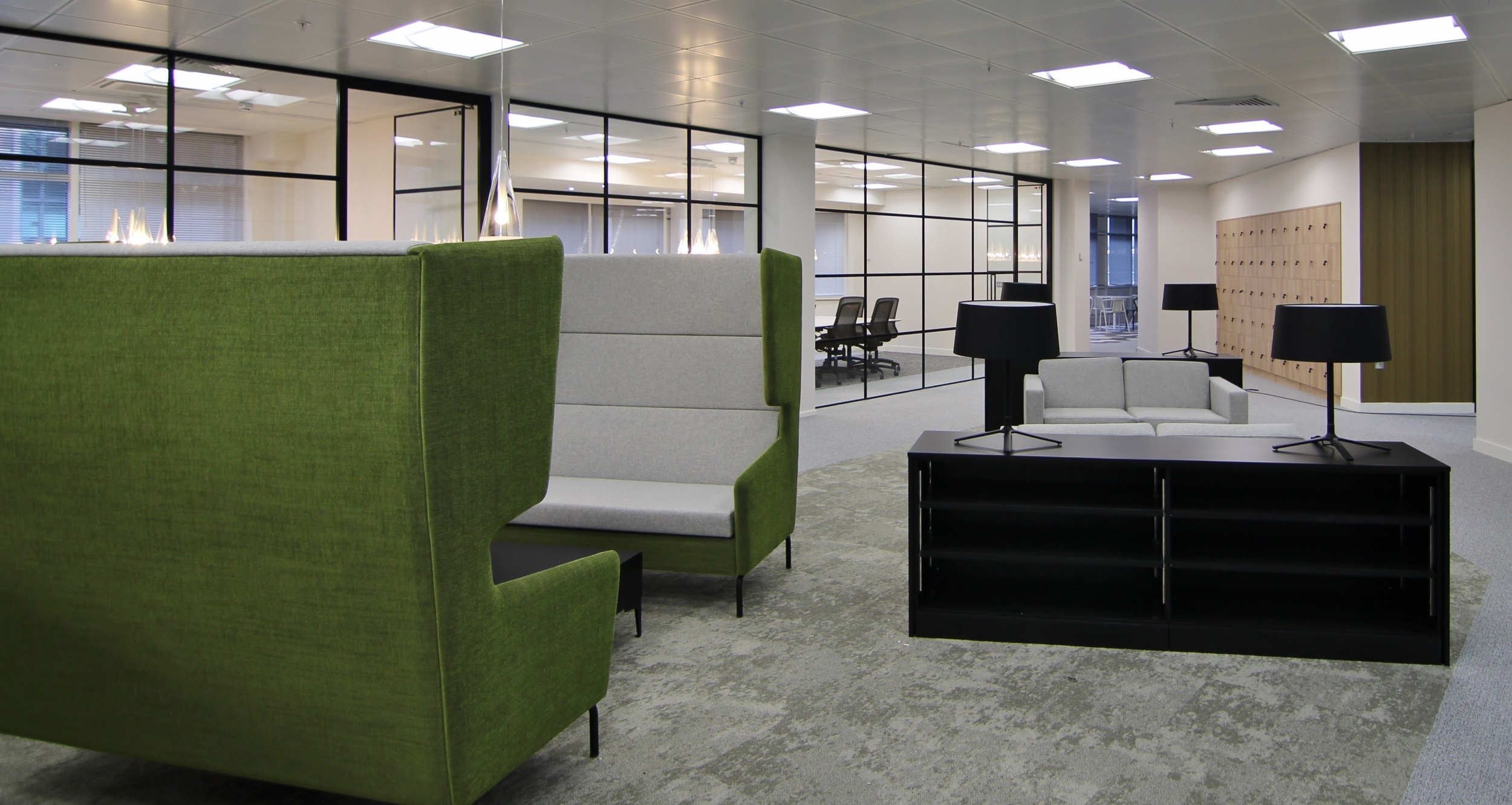 large green chairs