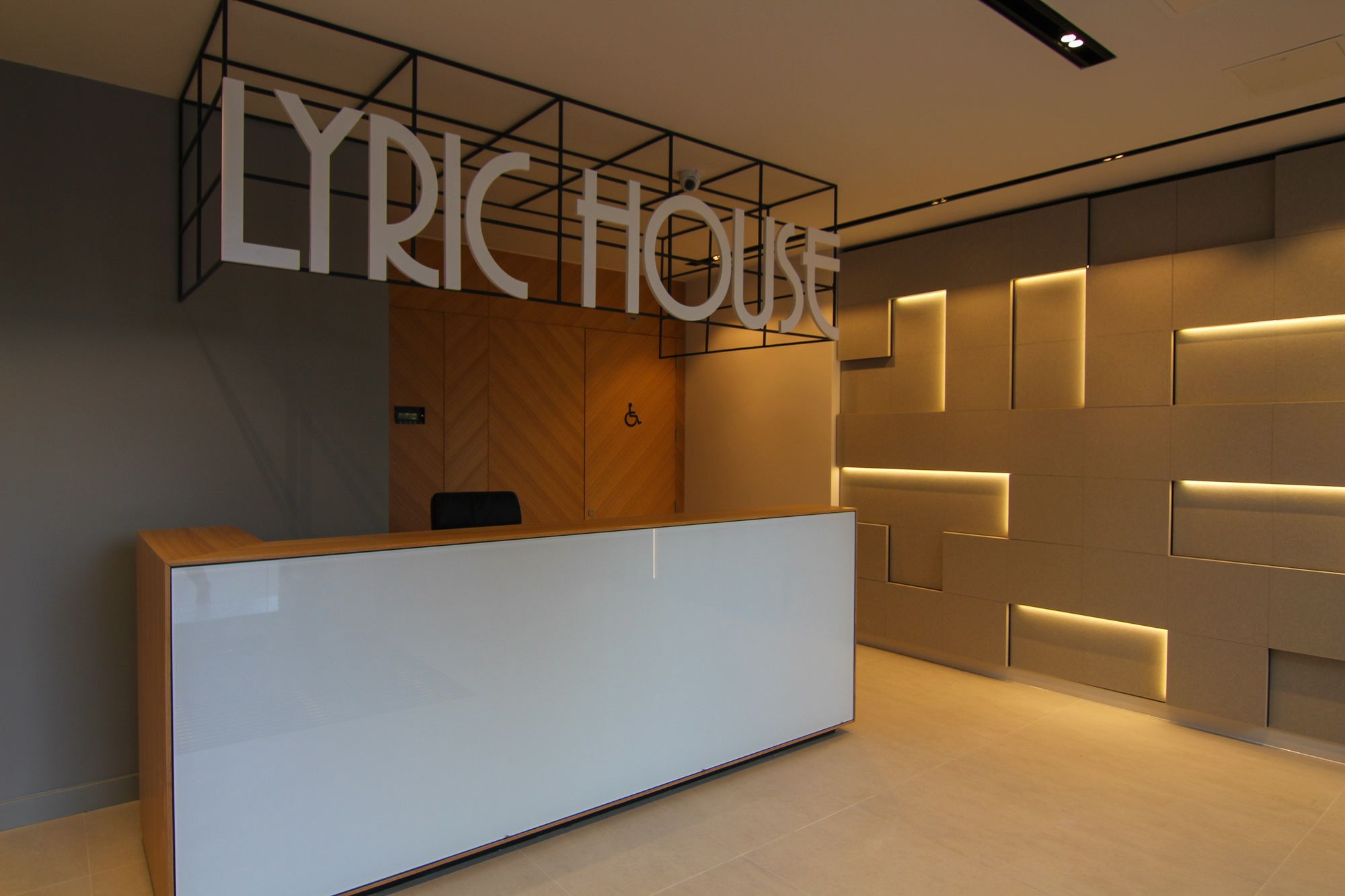 lyric house refurb reception area