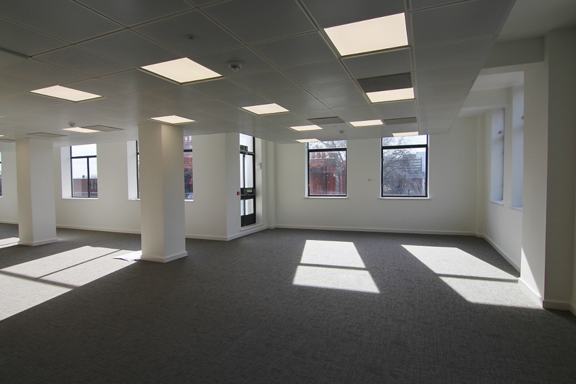 empty office with a window