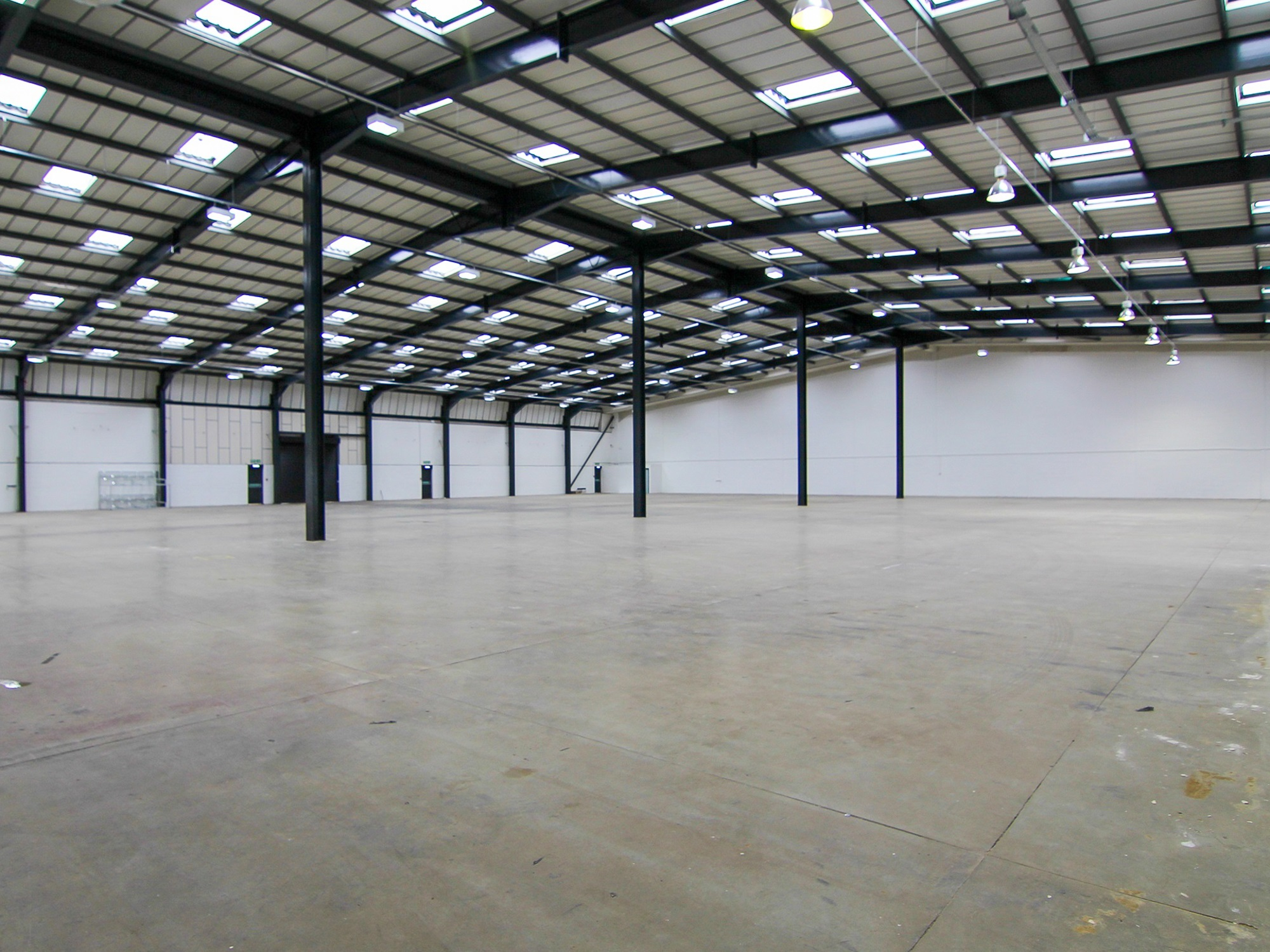 warehouse unit with concrete floor