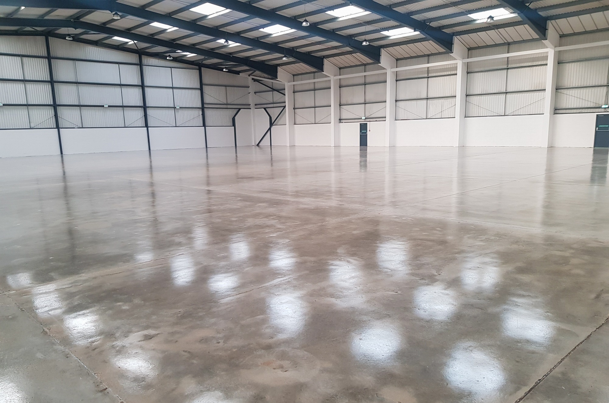 industrial unit with a gloss concrete floor