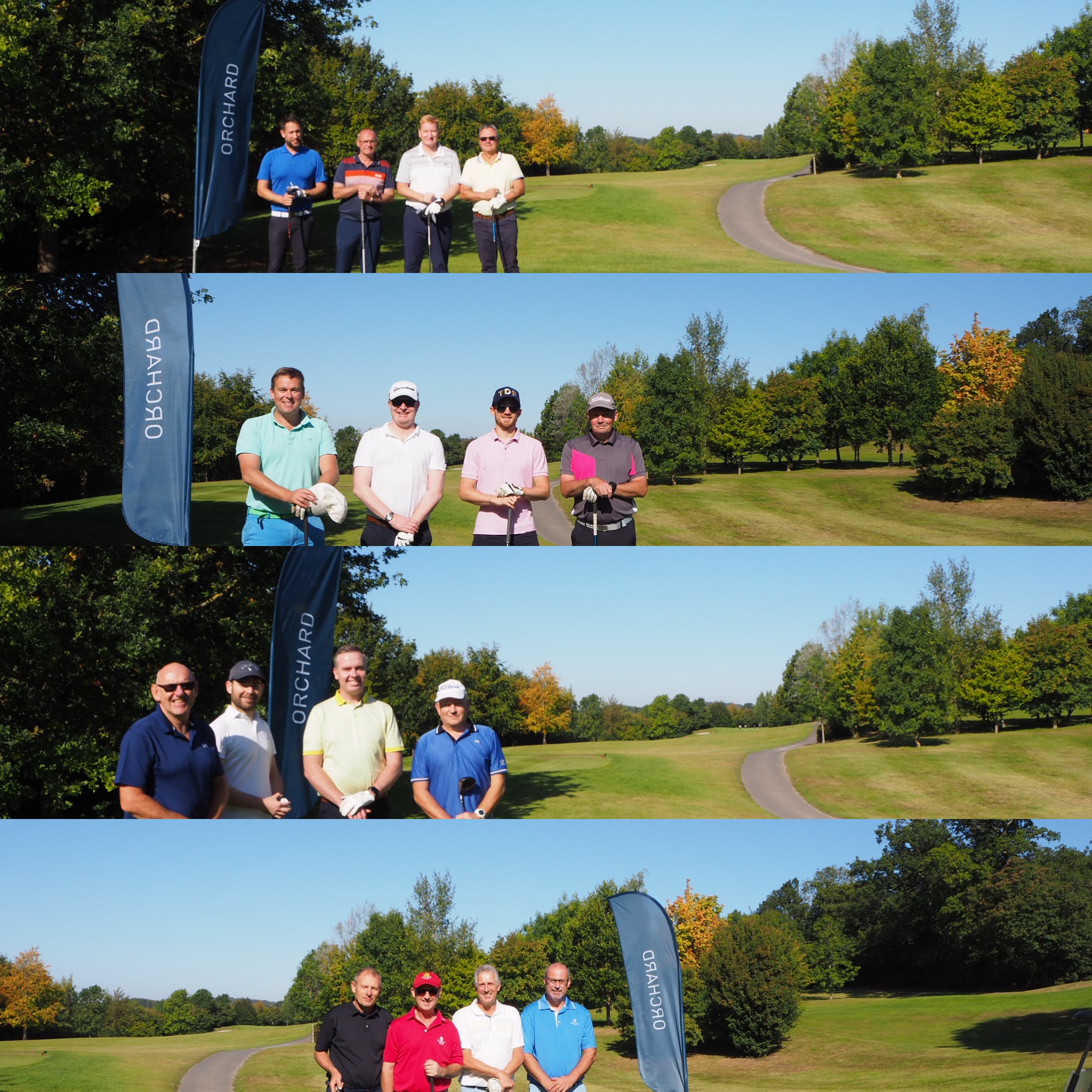 orchard group playing golf