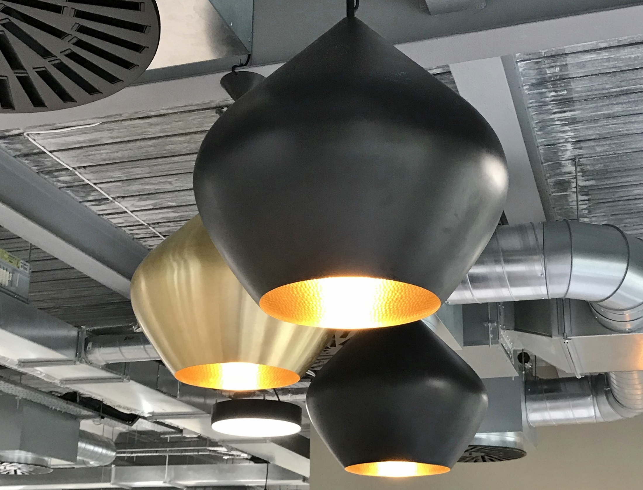 large black dome light shade