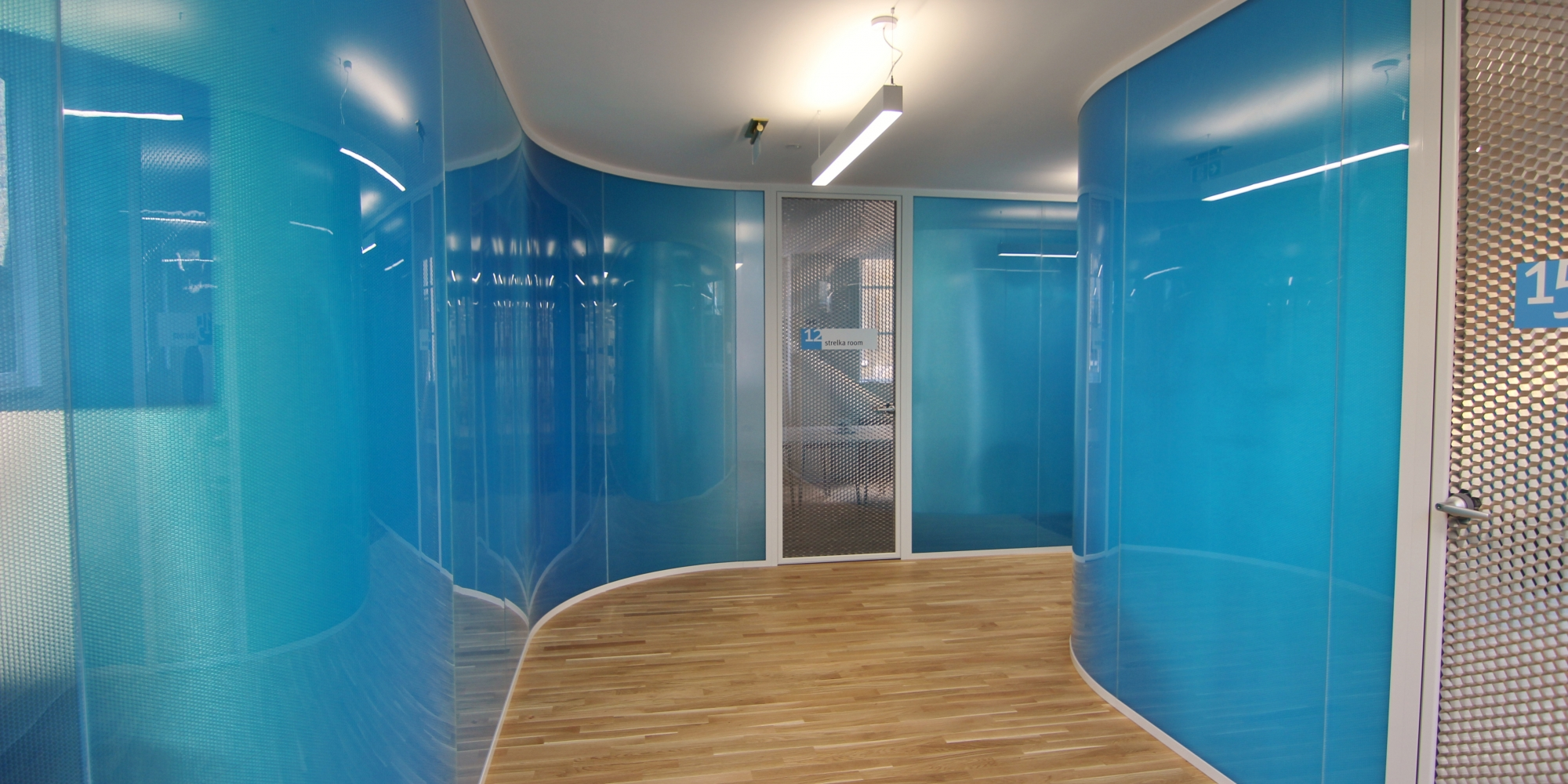 gloss blue internal wall